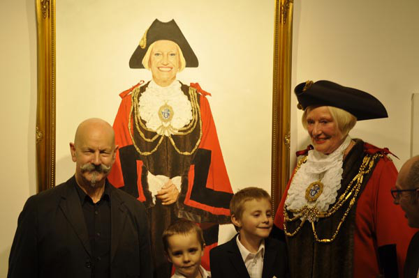 Mayor of Brighton and Hove Portrait Reveled at Reflections